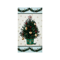 Home For The Holidays Christmas Tree 24 In. Panel Green