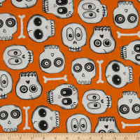 The Boo Crew Skeleton Heads Orange