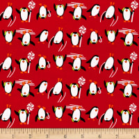 Dear Santa Penguins Red
