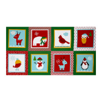 "Kaufman Jingle 4 Block 23"" Panel Holiday"