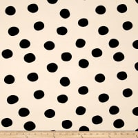 Birch Organic Mod Basics 3 Interlock Knit Pop Dots Black
