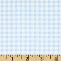 Telio Morocco Blues Stretch Poplin Gingham Print Baby/Blue/White