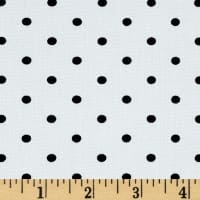 Telio Morocco Blues Stretch Poplin Small Polka Dots Black/White