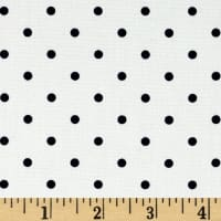 Telio Morocco Blues Stretch Cotton Shirting Small Polka Dots Navy White