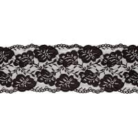 "6"" Annie Stretch Lace Trim Black"