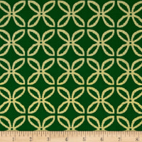 Michael Miller Holiday Glitz Glitz Clover Spearmint Metallic