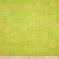 Michael Miller Valencia Painter's Canvas Lime Metallic