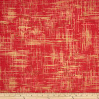 Michael Miller Valencia Painter's Canvas Coral Metallic