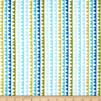 Michael Miller Pets A'Plenty Zipper Stripe Aqua