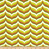 Riley Blake Cotton Jersey Knit Acorn Leafy Chevron Citron