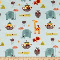 Riley Blake Cotton Jersey Knit Giraffe Crossing 2 Main Teal
