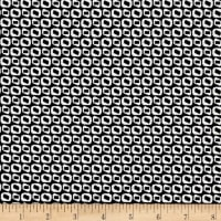 Telio Bengaline Jacquard Abstract Circle Print Black/White