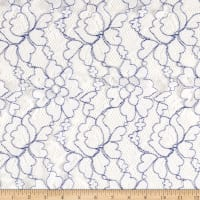Novelty Lace White Royal