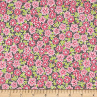 Kaufman Cozy Cotton Flannel Flower Pink