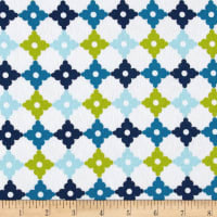 Kaufman Cozy Cotton Flannel Geo Plaid Marine