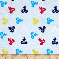 Minky Anchors Away Light Blue