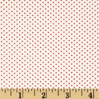 Kaufman Sevenberry Petite Basics Mini Dot Scarlet