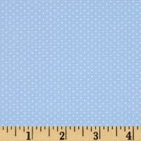 Kaufman Sevenberry Petite Basics Mini Dot Baby Blue