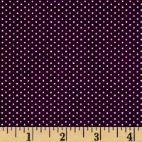 Kaufman Sevenberry Petite Basics Mini Dot Eggplant