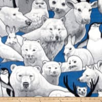 Polar Fleece Print Arctic Friends Blue
