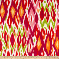 Polar Fleece Print Chipotle Azalea