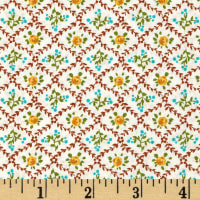 Kaufman London Calling Lawn Wall Paper Retro