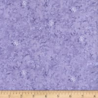 Timeless Treasures Grateful Heart Small Viney Floral Purple