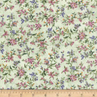Timeless Treasures Grateful Heart Small Viney Floral Multi