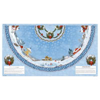 Winter's Eve Tree Skirt 24 In. Panel Multi