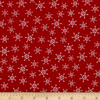 Alpine Snowflakes Toss Red