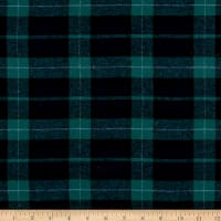Yarn Dyed Flannel Plaid Green Navy