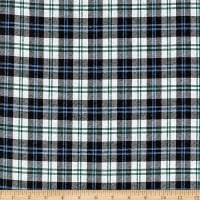 Yarn Dyed Flannel Plaid Blue Navy White