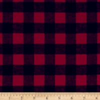 Yarn Dyed Flannel Check Red Black