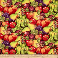 Thankful Harvest Stacked Fruits Multi