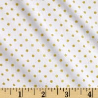 Riley Blake Gold Sparkle Swiss Dot Gold