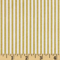 Riley Blake Gold Sparkle Stripe Gold Metallic