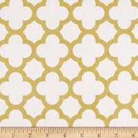 Riley Blake Gold Sparkle Quatrefoil Gold Metallic