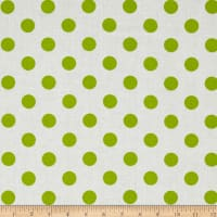 "Riley Blake 108"" Wide Medium Dot Lime Reversed"