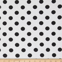 "Riley Blake 108"" Wide Medium Dot Black Reversed"