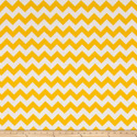 "Riley Blake 108"" Wide Medium Chevron Yellow"