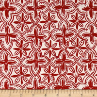 Ansley Home Decor Quarterfoil Red