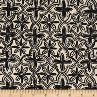 Ansley Home Decor Quarterfoil Black/Natural