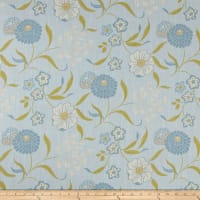 Ansley Home Decor Floral Blue/Citron