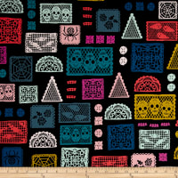 Cotton + Steel Boo Paper Parade Black