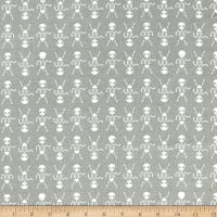 Cotton + Steel Boo Skeleton Dance Natural