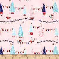 Riley Blake Pixie Noel Trees Pink