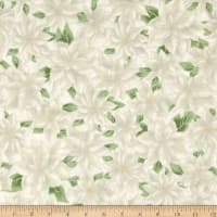 Holiday Accents Classics 2016 Poinsettia White Metallic
