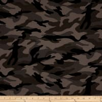 Kaufman Camo Cotton Printed Ripstop Charcoal