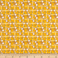 Storybook Flannel Diamonds And Daisies Yellow
