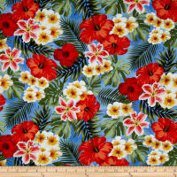 Rainforest Tropical Flowers Blue